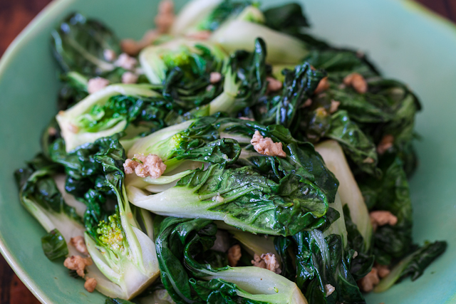 Bok Choy with Ground Chicken Stir Fry Recipe | Yummly