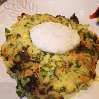 Zucchini Fritters with Yogurt Dill Sauce