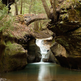 Devil's Bathtub by Michael Laird - Landscapes Caves & Formations ( devils bathtub, waterfall, hocking hills )
