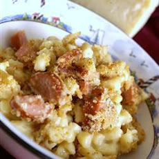 Cheddar and Smoked Sausage Macaroni Cheese