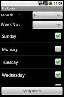 Screenshot of My Roster Widget