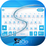 SlideIT Abstract Blue Skin 4.0 Apk