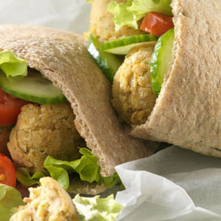 Falafel With Aubergine Dip