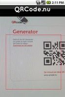Screenshot of QRCode.nu