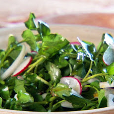 Watercress, Onion, and Radish Salad