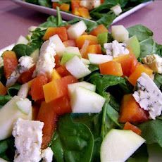 Spinach-Apple Salad With Roquefort Cheese
