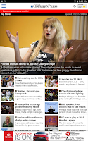 Screenshot of Evansville Courier & Press