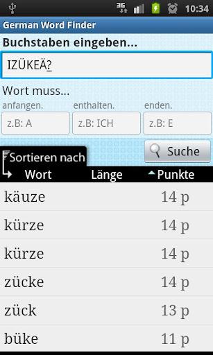 German Word Finder
