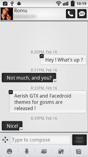 Aerish GTX for GoSMS