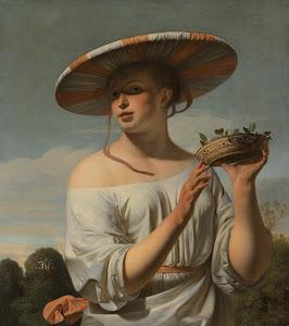 RIJKS: Caesar Boëtius van Everdingen: Girl in a Large Hat 1650