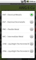 Screenshot of Electrical Calc Elite Electric