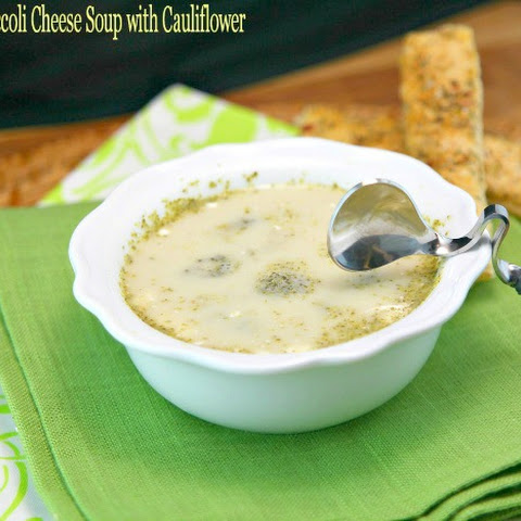 Slow Cooker Broccoli Cheese Soup with Cauliflower