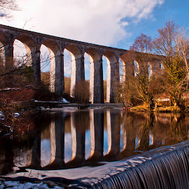 Cefn Viaduct by Clive  Rees - Buildings & Architecture Bridges & Suspended Structures ( crawshay, railway, viaduct, river taff, cefn coed )