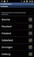 Screenshot of WeerAlarm.mobi