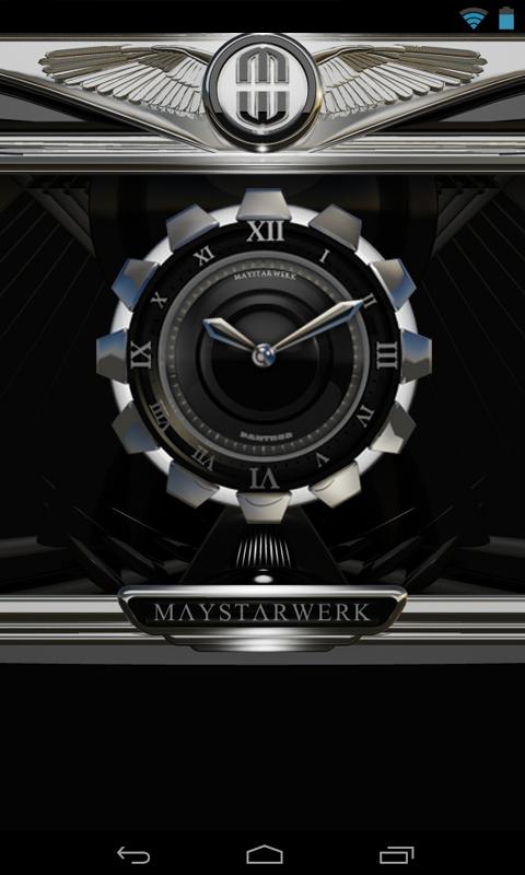 Clock Widget Black Panther Screenshot 2