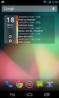 Screenshot of Clean Calendar Widget