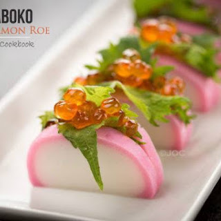Kamaboko with Salmon Roe