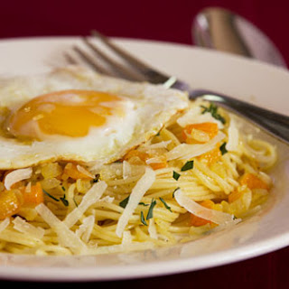 Capellini with Lemon, Garlic and Egg