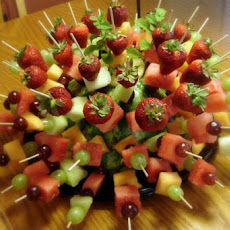 Showy but Simple Fruit Kabobs - Perfect for a Party