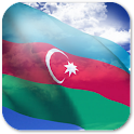 3D Azerbaijan Flag + icon