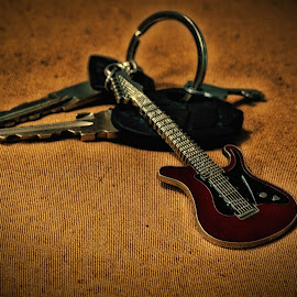 keyring by Nitish Saini - Artistic Objects Other Objects ( ring, keys, still life, lock, artistic object, guitar, keyring )