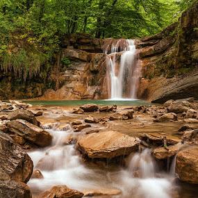 by Alexander Bakhur - Landscapes Forests ( nature, waterfall, forest, landscape, river,  )
