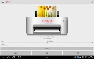 Screenshot of Ricoh myPrint