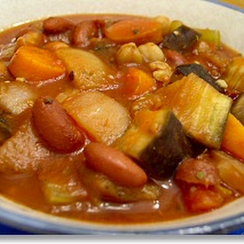Crockpot Eggplant and Tomato Stew with Garbanzo Beans