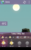 Screenshot of Animated Weather Widget, Clock
