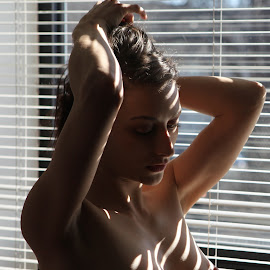 Ms. E(3) by Troy Phifer III - Nudes & Boudoir Artistic Nude ( nude, pensive, artistic, blinds, light )