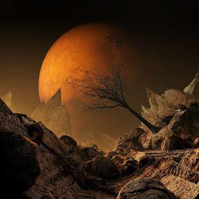 Life On Mars (Moon) 3D by Jamie Keith - Illustration Sci Fi & Fantasy