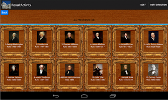 Screenshot of American Presidents