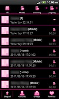 Screenshot of GO Contacts EX Theme Pink Neon