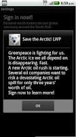 Screenshot of Save the Arctic!! LWP FREE