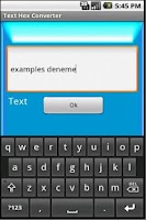 Screenshot of Text Hex Converter