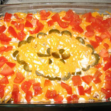 Easy Meaty 7-Layer Taco Dip