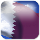 3D Qatar Flag + icon