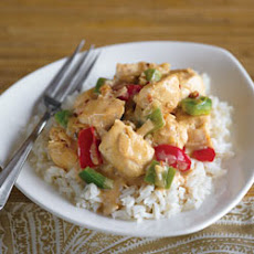 Chicken with Peanut Curry Yogurt Sauce