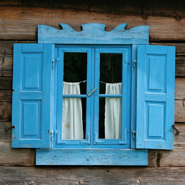 Blue window by Dominic Jacob - Buildings & Architecture Architectural Detail ( old, window, blue,  )