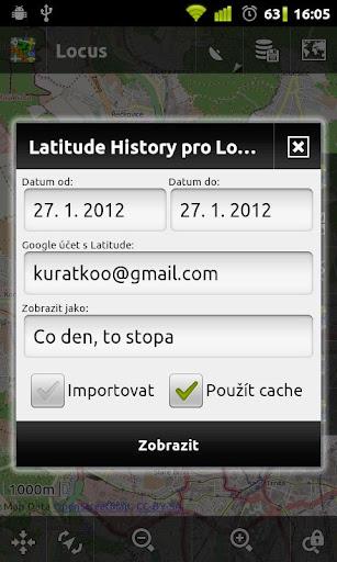 Locus - addon Latitude History