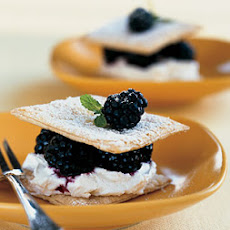 Fresh Blackberry Napoleons with Cream Cheese Mousse