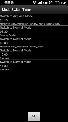 Mode Switch Timer