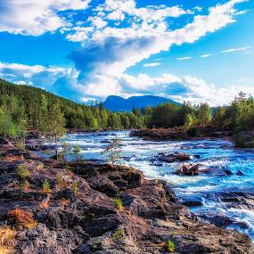River by Janne Monsen - Landscapes Waterscapes ( torpo, gol, hallingdal, rv7, norway )