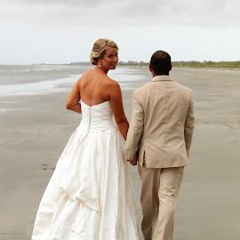 . by Lauren Young - Wedding Bride & Groom ( wedding, bride and groom, beach, beach wedding, south carolina )