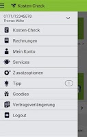 Screenshot of Mein mobilcom-debitel