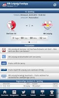 Screenshot of RB Leipzig FanApp