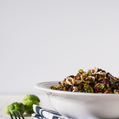 Roasted Brussels Sprout and Quinoa Autumn Salad