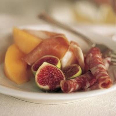 Prosciutto, Salami, Melon and Figs