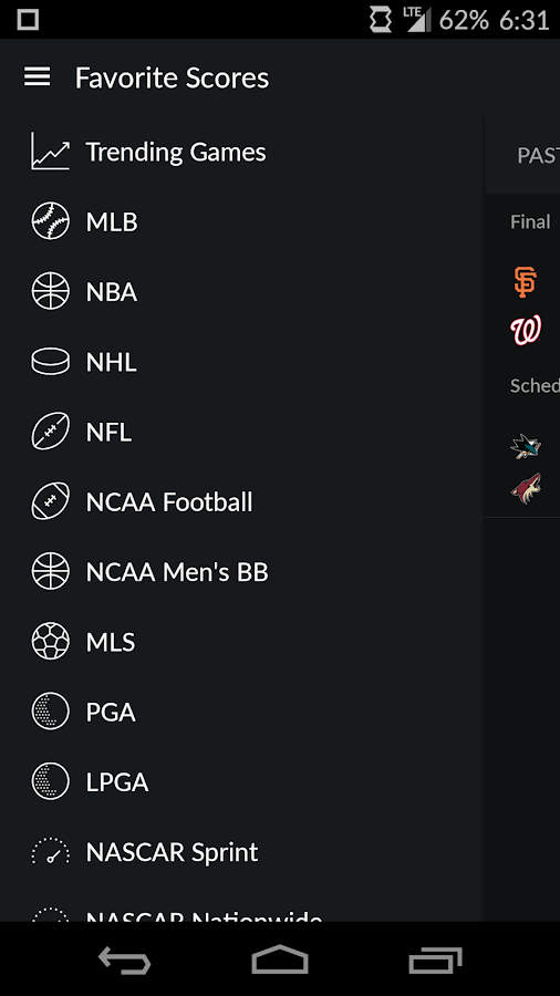 Yahoo Sports Screenshot 1