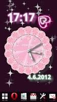 Screenshot of [FREE]CUTE QLOCK LWP Baby Pink